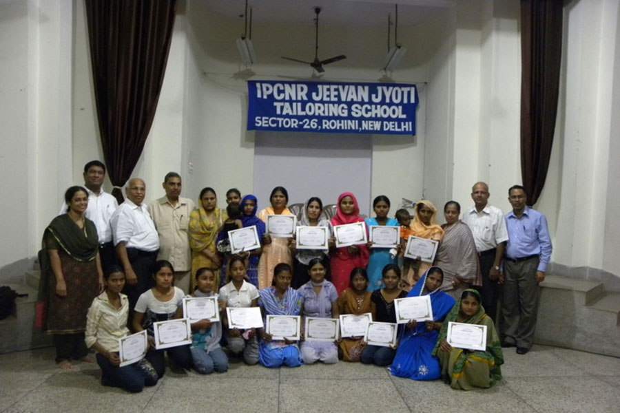 Certificates issed to students at Rohini tailoring school